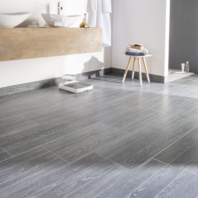 carrelage sol et mur anthracite effet bois avoriaz x cm leroy merlin. Black Bedroom Furniture Sets. Home Design Ideas