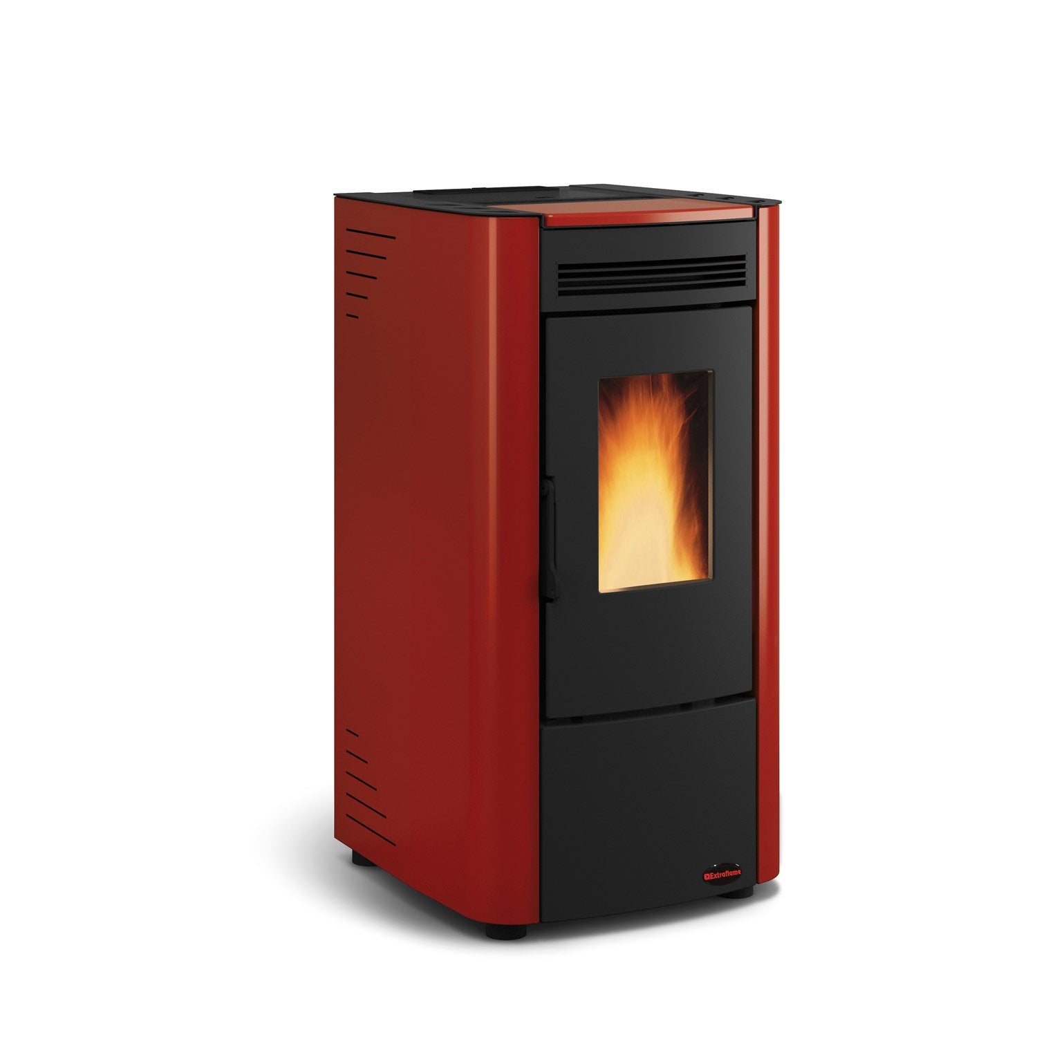 po le granul s extraflame ketty bordeaux 6 3 kw leroy merlin. Black Bedroom Furniture Sets. Home Design Ideas