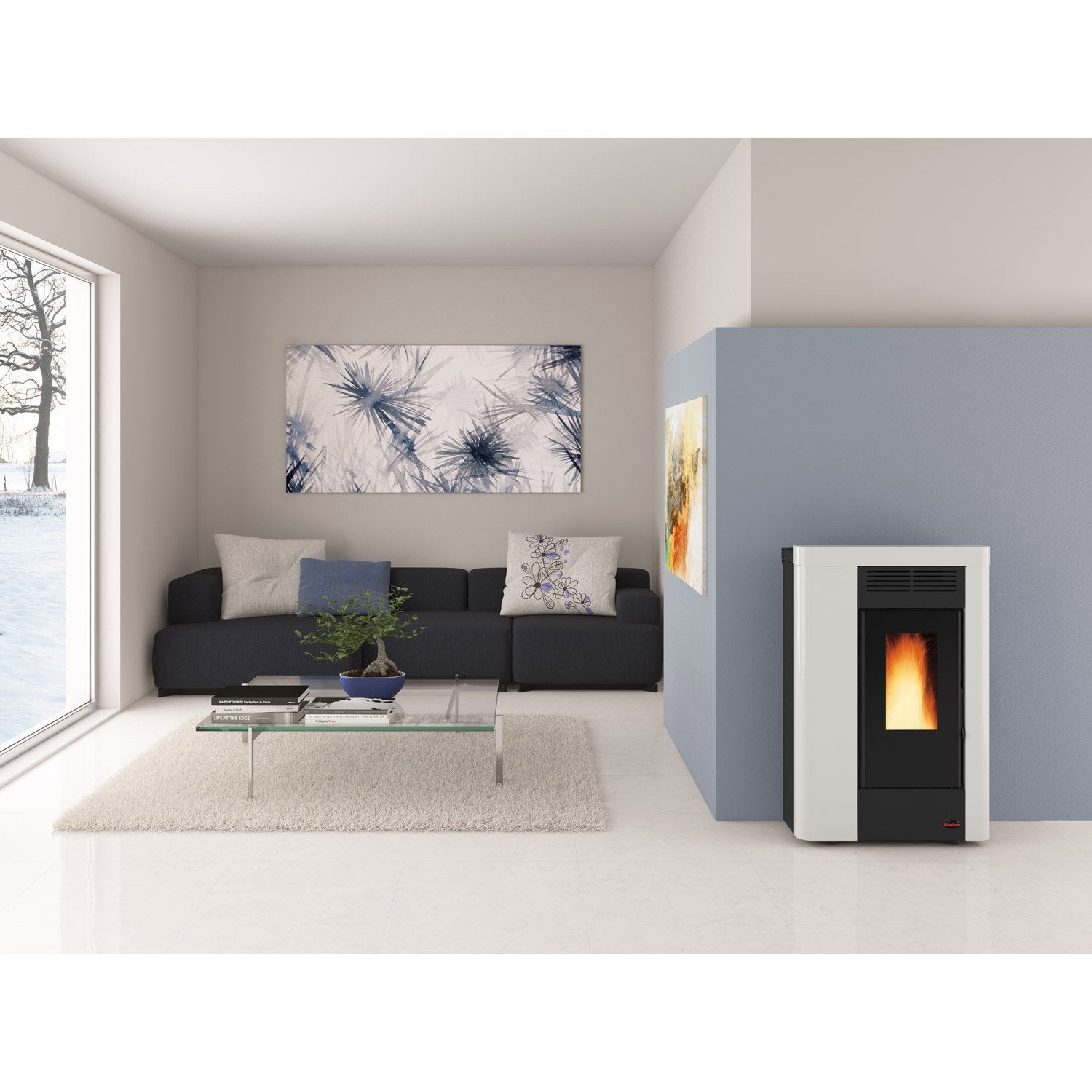 po le granul s extraflame anabella blanc 8 kw leroy merlin. Black Bedroom Furniture Sets. Home Design Ideas