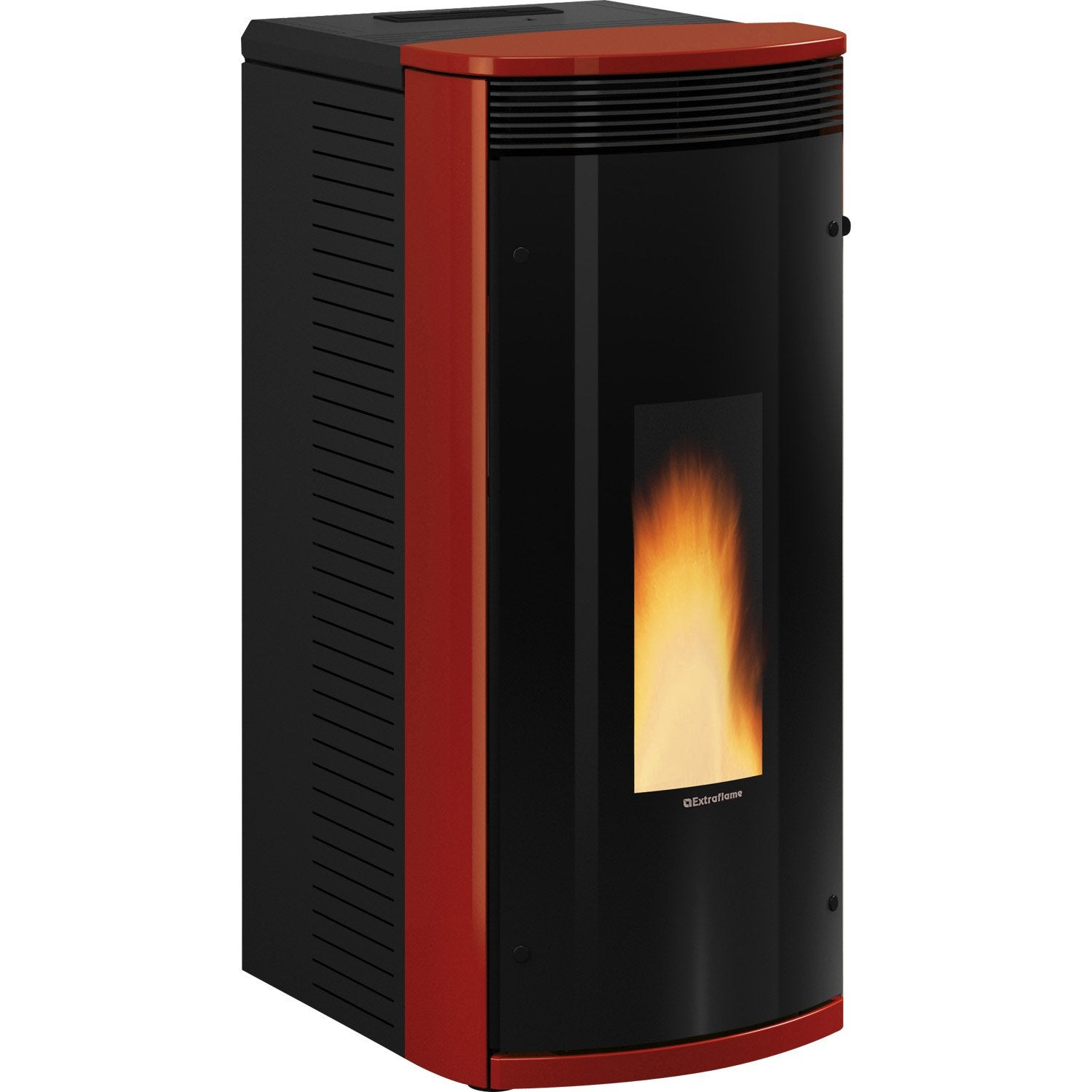 po le granul s extraflame sibilla bordeaux 8 2 kw leroy merlin. Black Bedroom Furniture Sets. Home Design Ideas