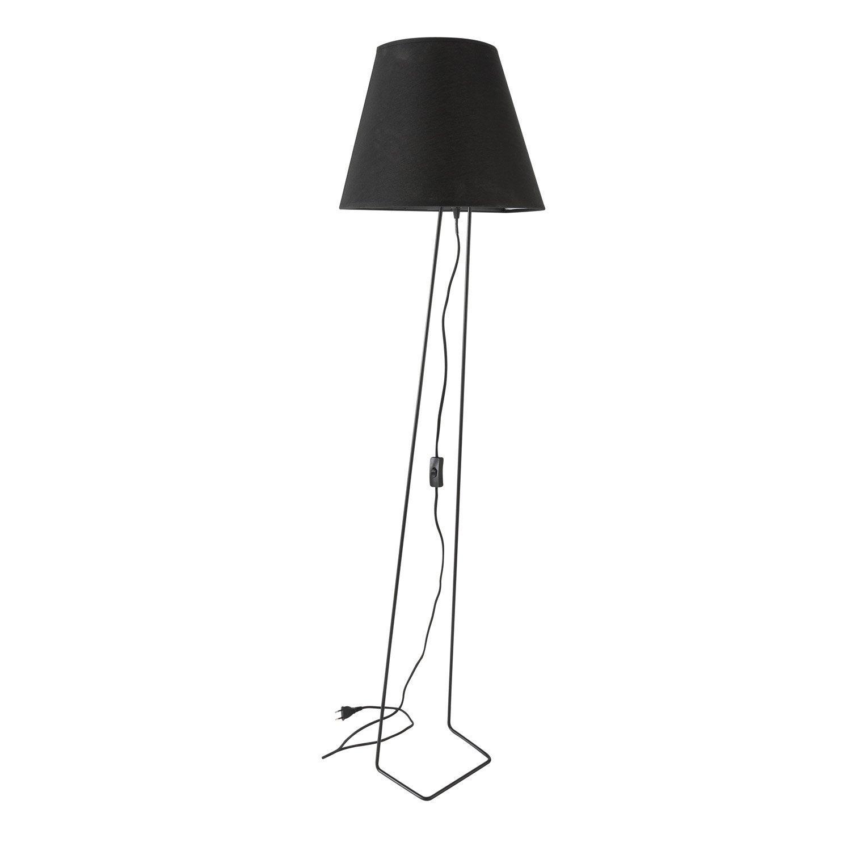 lampadaire saya inspire 150 cm noir 60 w leroy merlin. Black Bedroom Furniture Sets. Home Design Ideas
