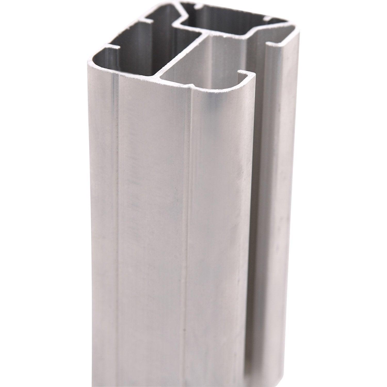 Poteaux en h acier en aluminium leroy merlin - Poteau pour portail coulissant ...