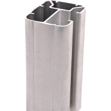 poteaux en aluminium forme en h l 5 x p 6 5 x leroy merlin. Black Bedroom Furniture Sets. Home Design Ideas