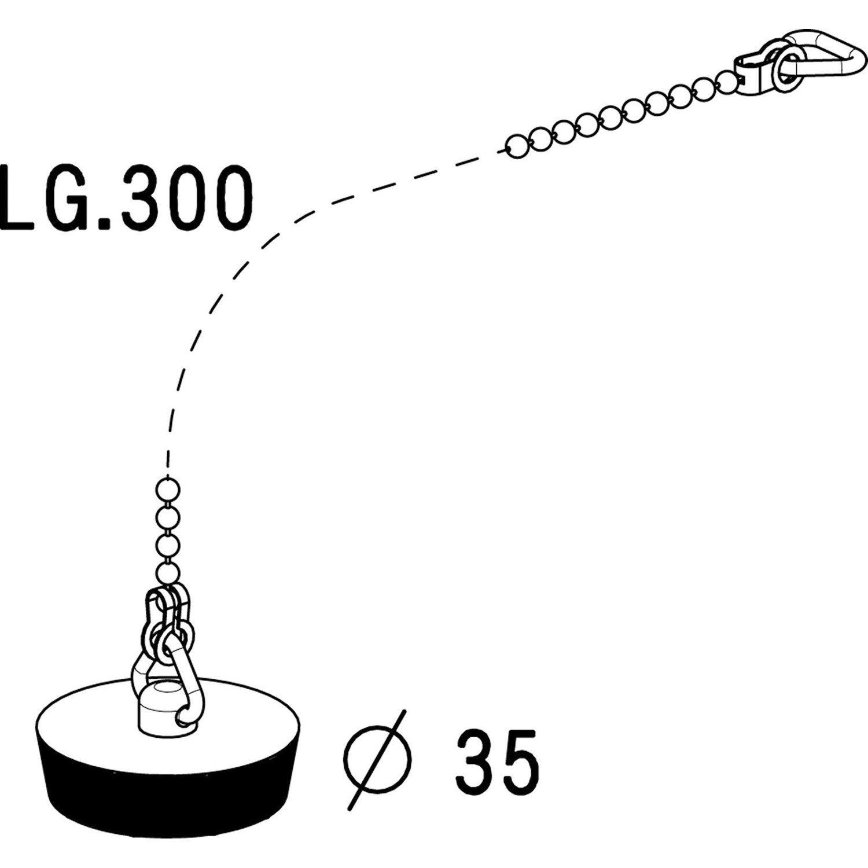 bouchon pour vier anneau et chaine 30 cm mm leroy merlin. Black Bedroom Furniture Sets. Home Design Ideas