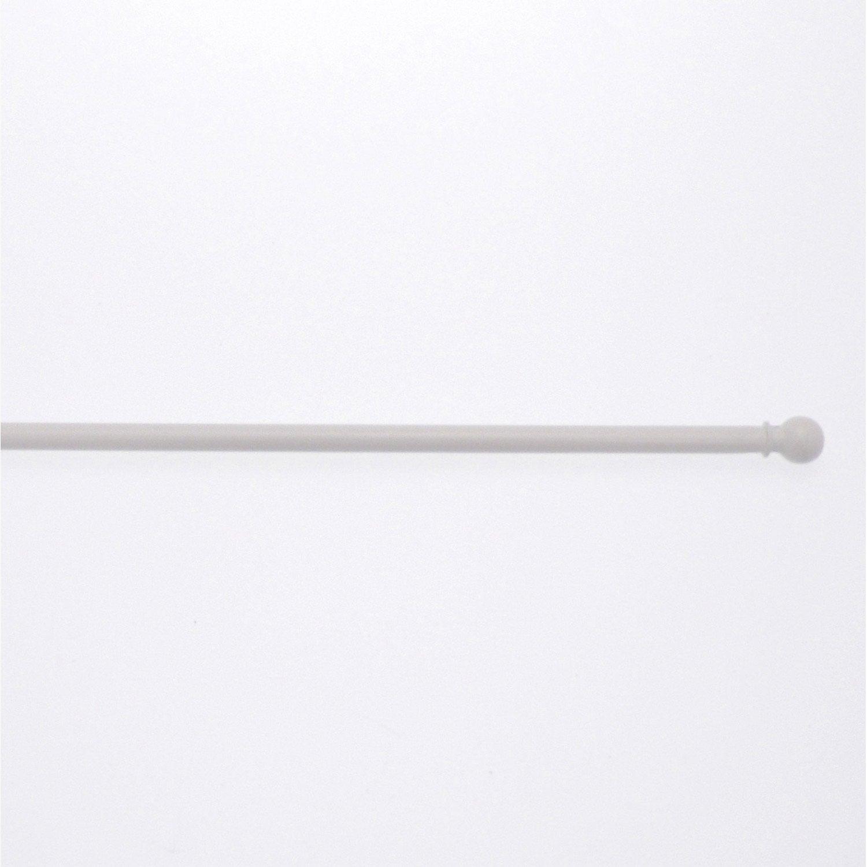 1 barre vitrage extensible avec per age inspire blanc 40 60 cm leroy me - Barre extensible leroy merlin ...