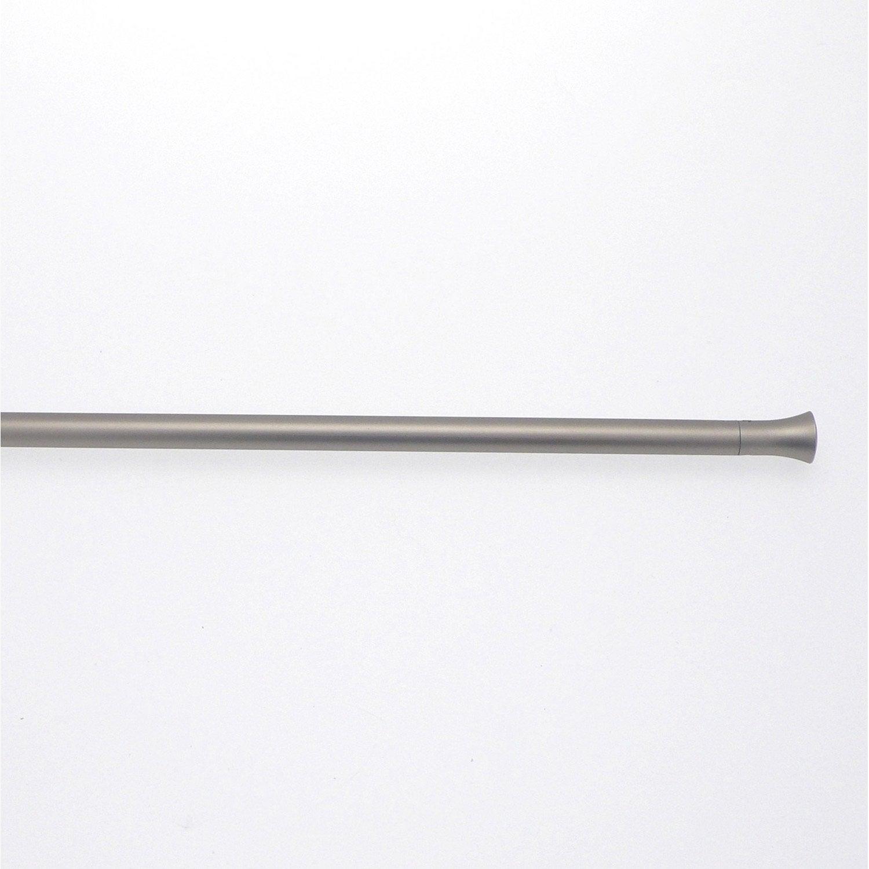 1 barre vitrage extensible avec per age inspire argent 70 110 cm leroy - Barre extensible leroy merlin ...