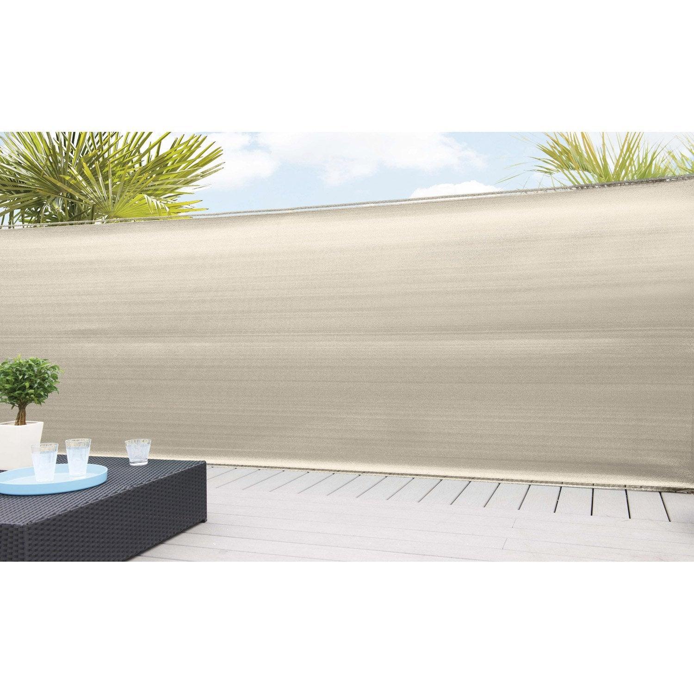 brise vue poly thyl ne naterial blanc ivoire n 3 cm. Black Bedroom Furniture Sets. Home Design Ideas