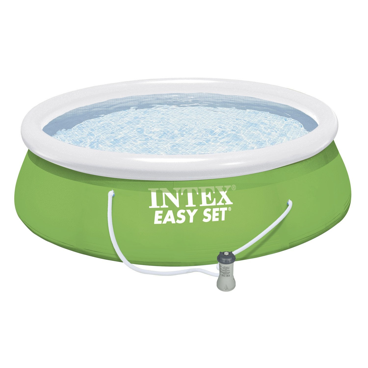 Piscine hors sol autoportante gonflable easy set intex for Grande piscine ronde hors sol