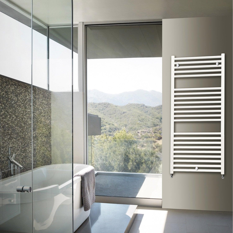 s che serviettes eau chaude aluminium hox krom blanc 581. Black Bedroom Furniture Sets. Home Design Ideas