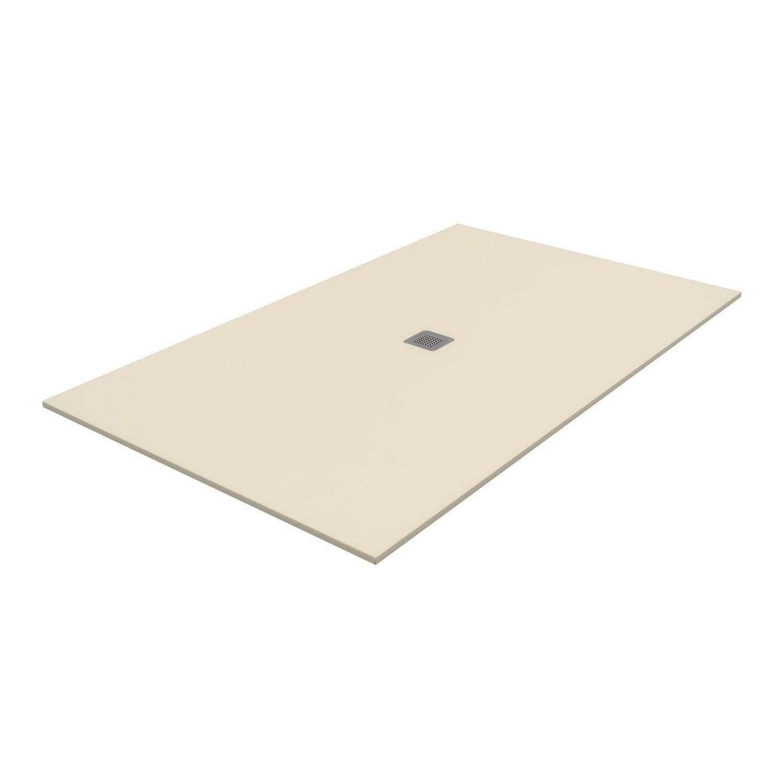 receveur de douche rectangulaire x cm pierre beige kioto2 leroy merlin. Black Bedroom Furniture Sets. Home Design Ideas