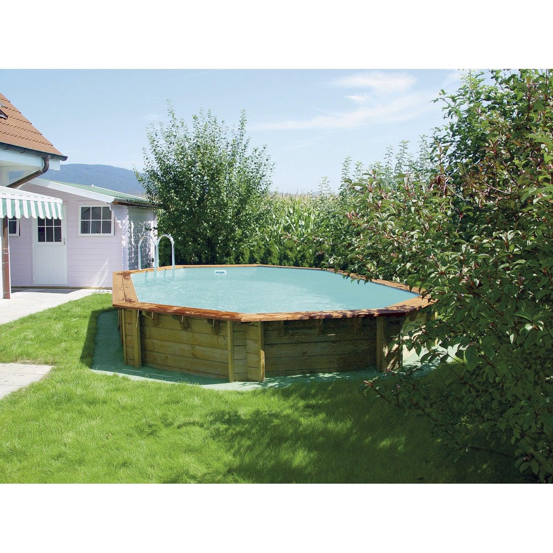 piscine hors sol bois odyssea l 5 4 x l 3 3 x h m leroy merlin. Black Bedroom Furniture Sets. Home Design Ideas