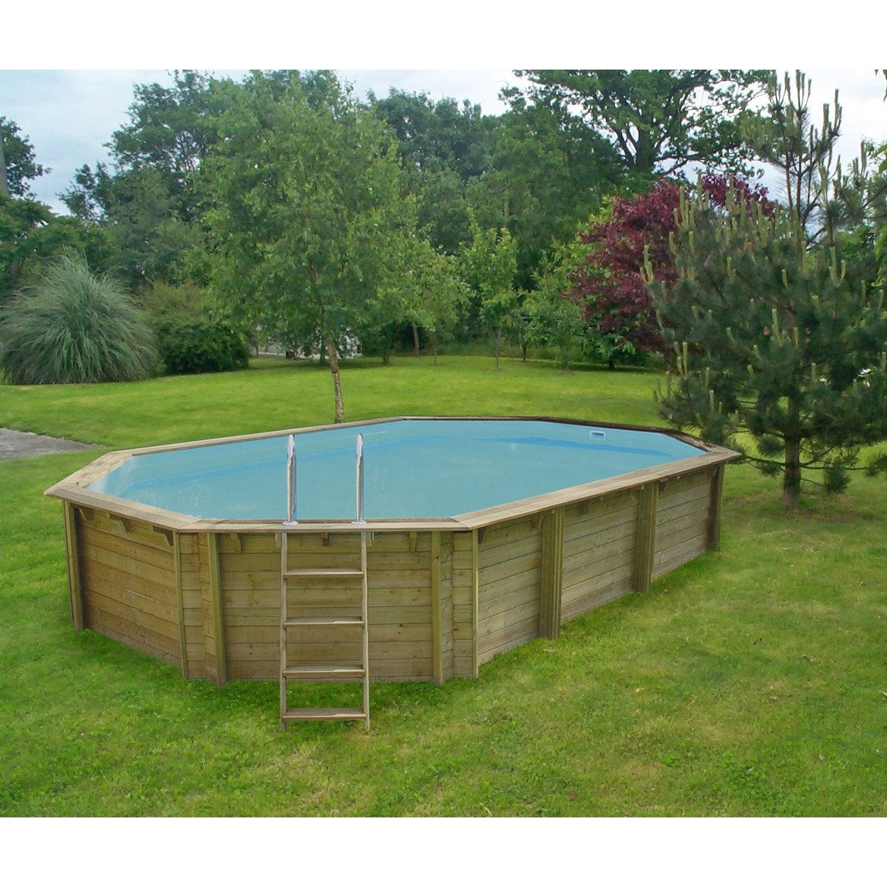 Piscine hors sol bois weva proswell by procopi l 6 4 x l for Piscine hors sol enterrable