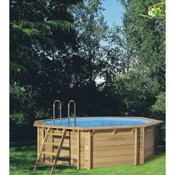 Piscine hors sol bois procopi weva octo 440 ronde for Liner piscine hors sol leroy merlin