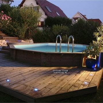 piscine hors sol bois samoa ubbink ovale leroy merlin. Black Bedroom Furniture Sets. Home Design Ideas