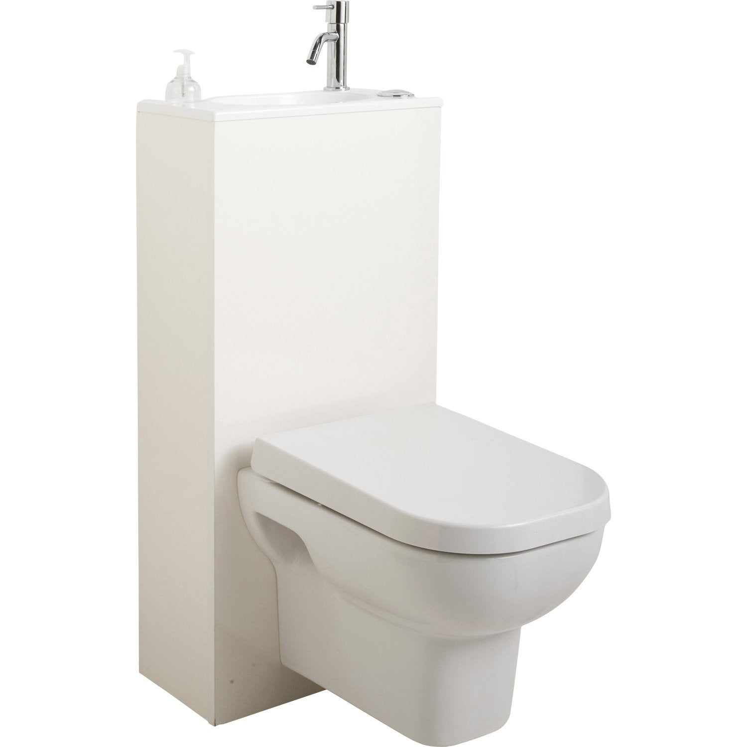 Pack wc suspendu gain de place trio leroy merlin - Pack toilette suspendu ...