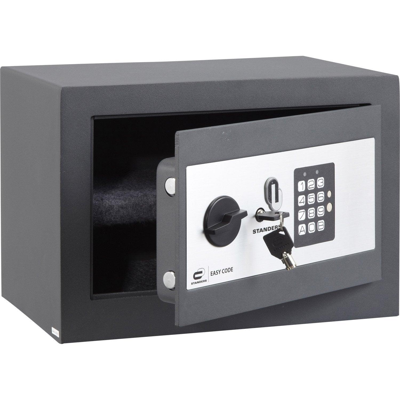 coffre fort code standers easy code h25xl35xp25cm 16l. Black Bedroom Furniture Sets. Home Design Ideas