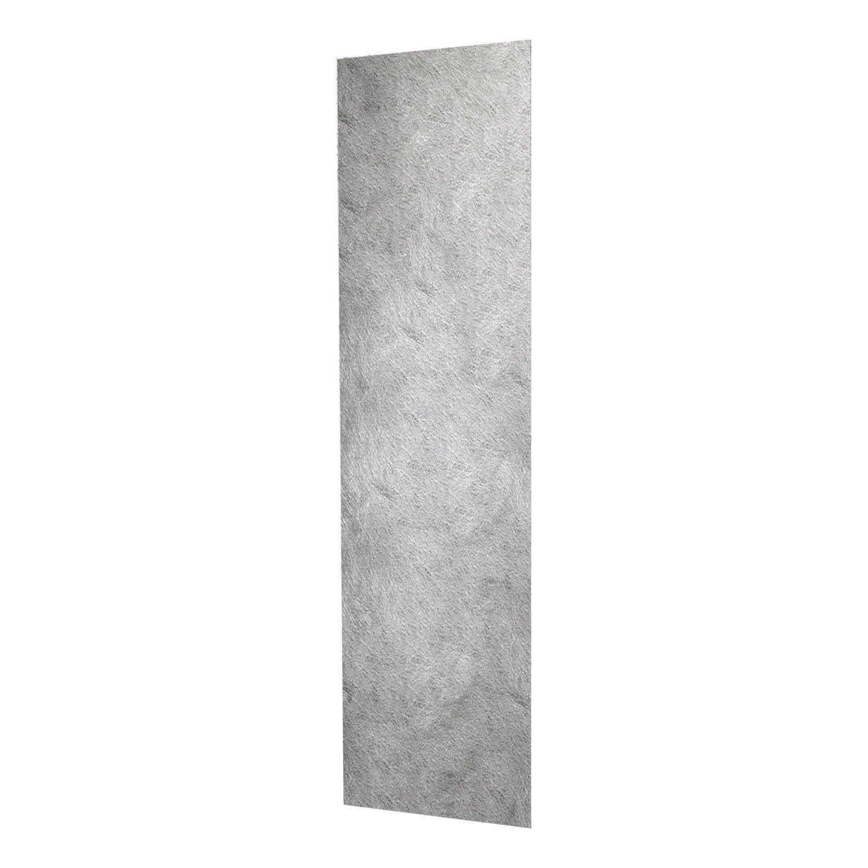 Panneau japonais frost argent 50 x 260 cm leroy merlin - Panneau coulissant leroy merlin ...