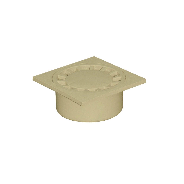 Siphon de cour en polypropyl ne first plast sable x for Siphon de cour 30x30