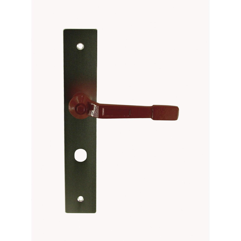Poign e de porte vannes d condamnation aluminium 195 mm - Poignee de porte aluminium ...