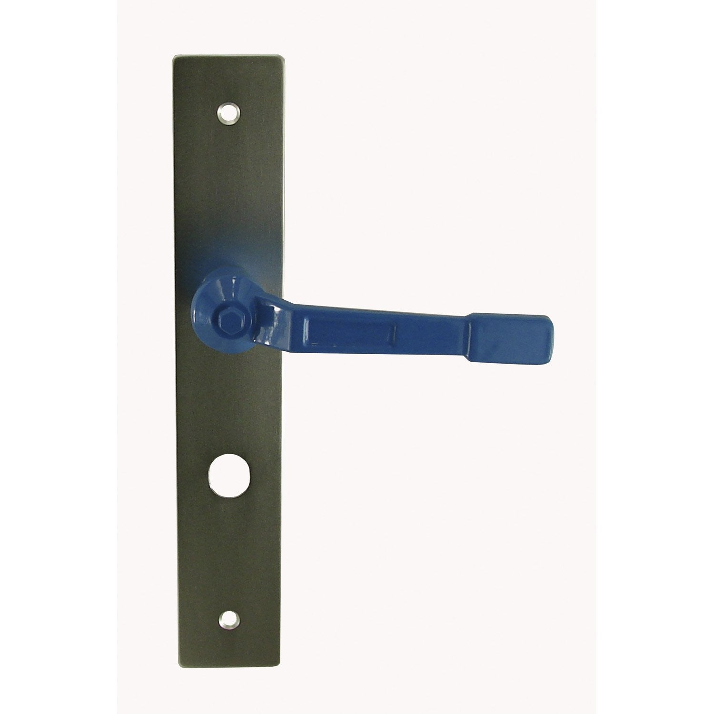 Poign e de porte vannes d condamnation aluminium 195 mm for Porte de garage vannes