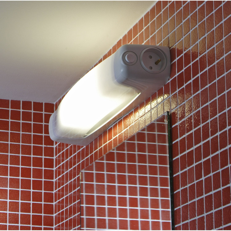 reglette de 3 spots led chrome. eclairage miroir salle de ...