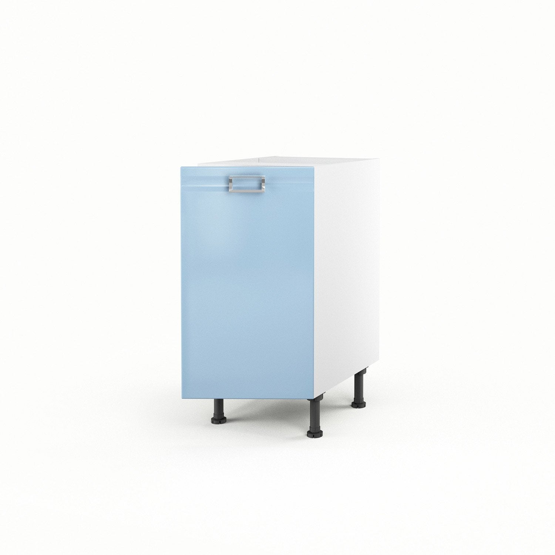 Meuble De Cuisine Bas Bleu 1 Porte Crystal X X P