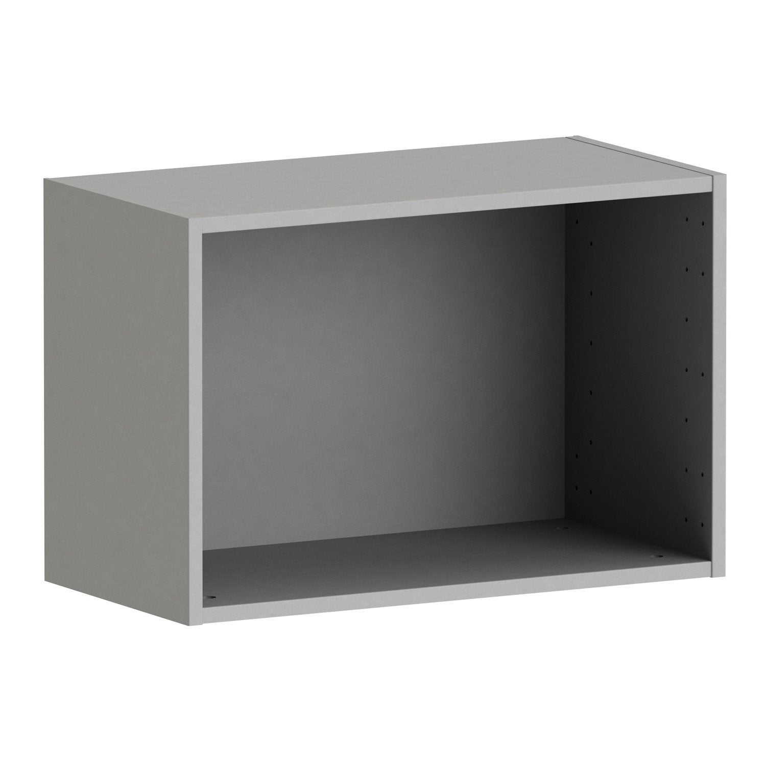 caisson spaceo home 40 x 60 x 30 cm anthracite leroy merlin