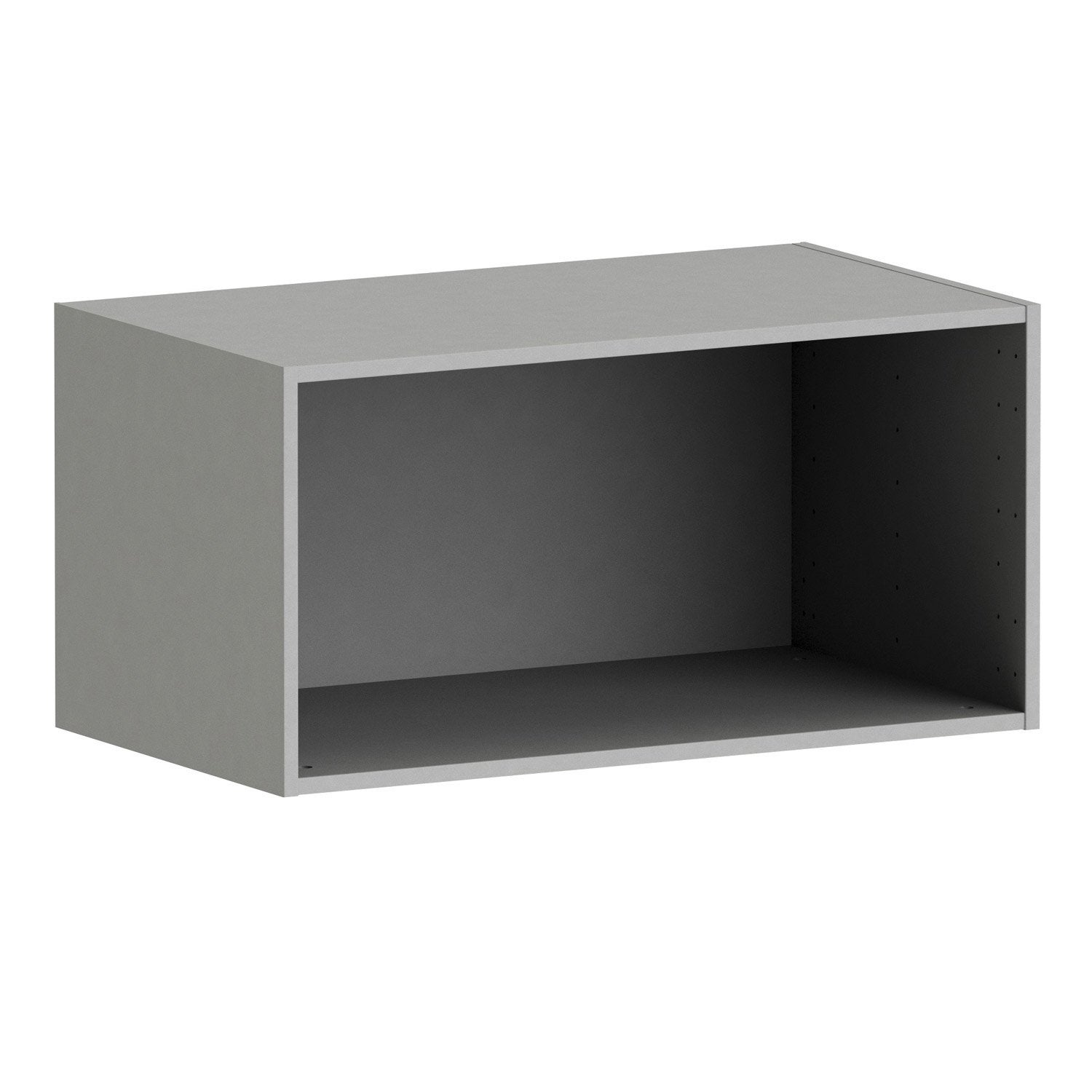 Caisson spaceo home 40 x 80 x 45 cm anthracite leroy merlin - Caisson dressing profondeur 45 ...