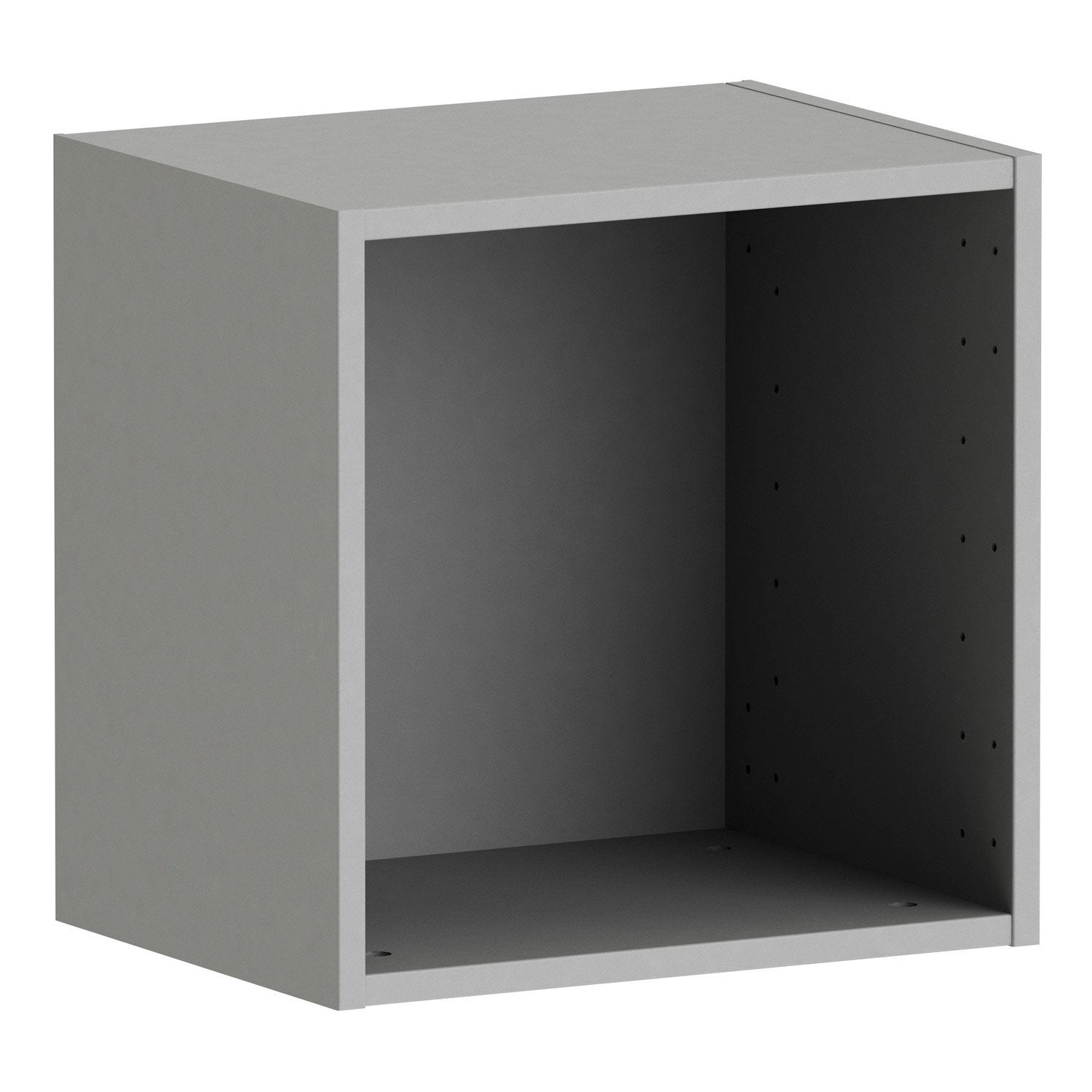 Caisson spaceo home 40 x 40 x 30 cm anthracite leroy merlin - Caisson armoire leroy merlin ...