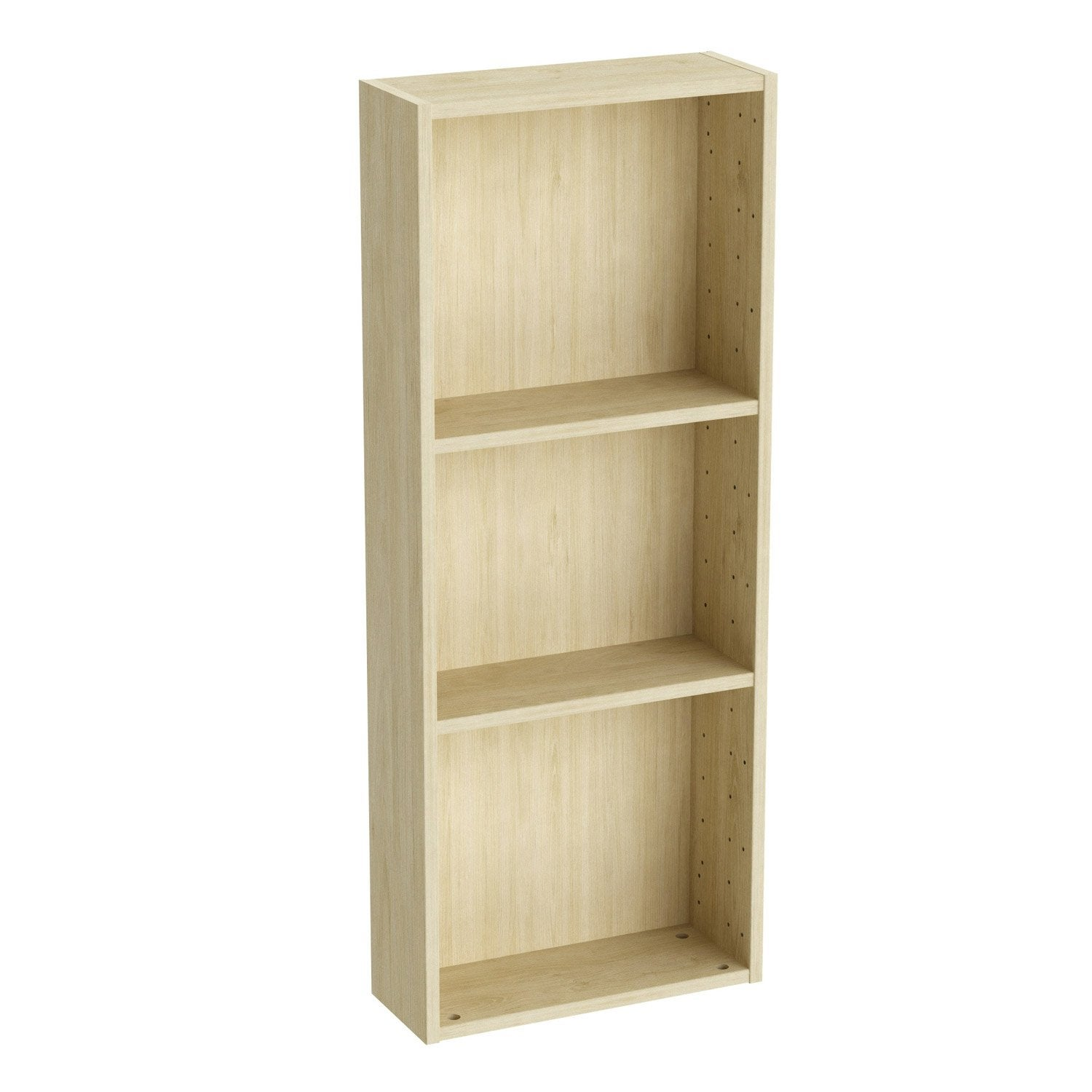 etonnant etagere 15 cm profondeur 4 caisson spaceo home 200 x 40 x 15 cm effet ch ne naturel. Black Bedroom Furniture Sets. Home Design Ideas