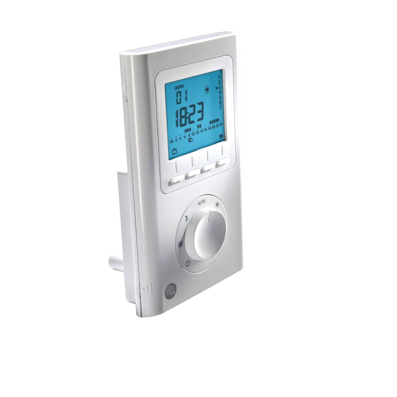 programmateur pour radiateur lectrique blanc ecosun ecosun glass leroy merlin. Black Bedroom Furniture Sets. Home Design Ideas