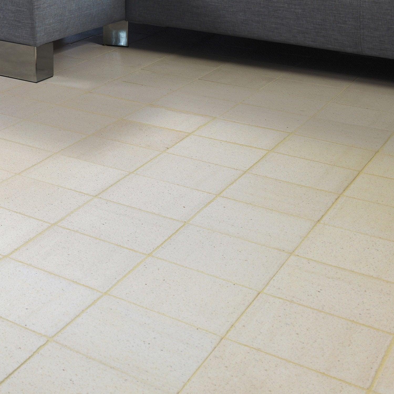 Terre cuite sol et mur blanc effet pierre rairies liberti for Carrelage terre cuite leroy merlin