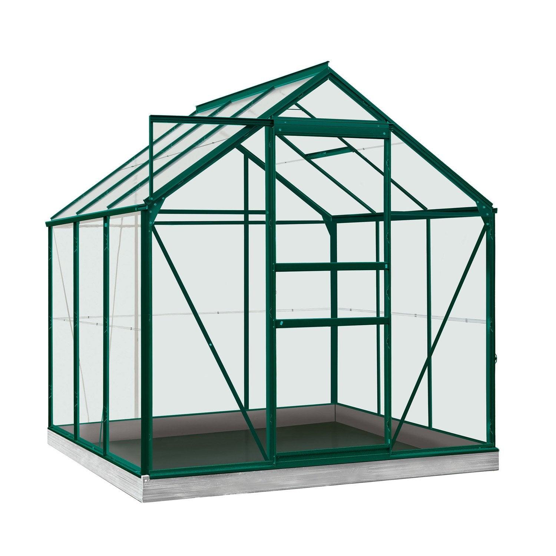 serre de jardin en polycarbonate simple paroi rainbow vert. Black Bedroom Furniture Sets. Home Design Ideas