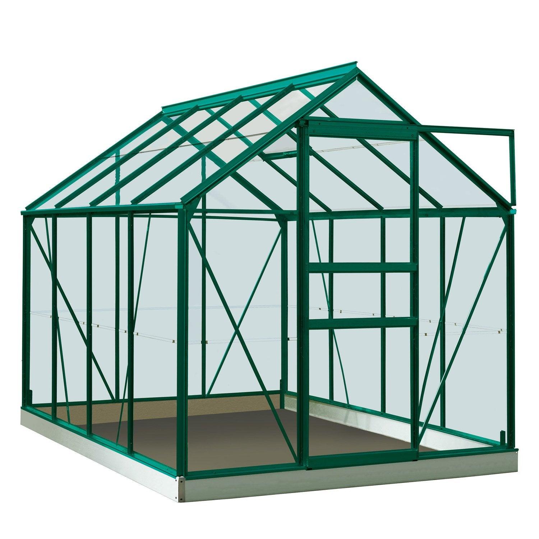 Serre de jardin en polycarbonate simple paroi rainbow vert - Serres de jardin leroy merlin ...