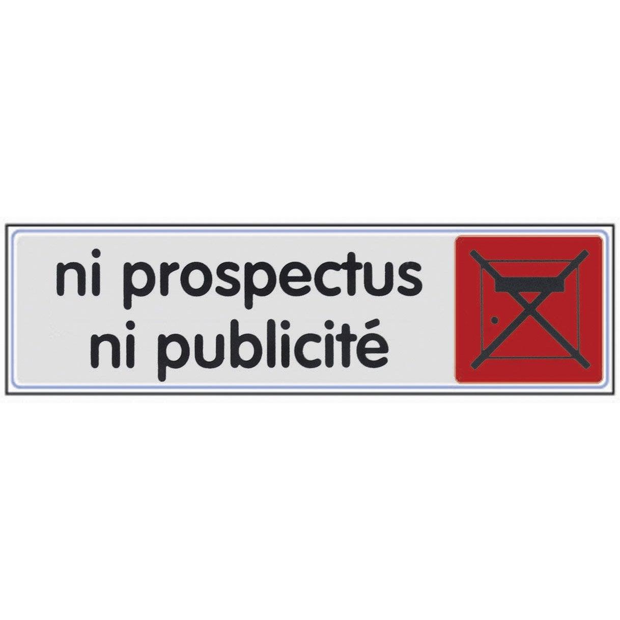 Plaque plexiglass ni prospectus ni pub en plastique leroy merlin - Musique pub leroy merlin ...