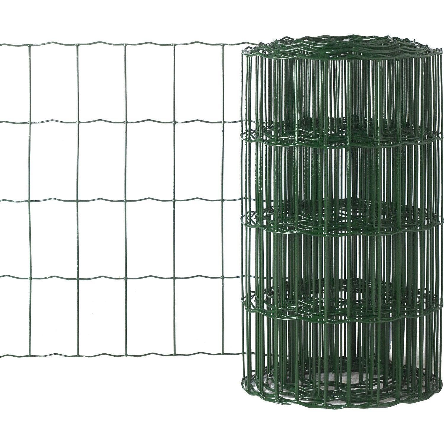 Grillage soud vert h 0 4 x m maille de x mm leroy merlin - Grillage cloture leroy merlin ...