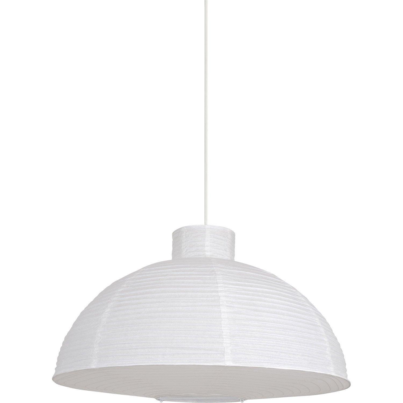 suspension zen moshi papier blanc 1 x 60 w corep leroy merlin. Black Bedroom Furniture Sets. Home Design Ideas
