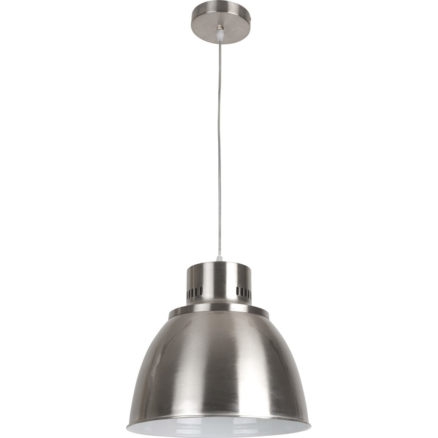 Suspension industriel soho m tal chrom 1 x 60 w corep - Suspension metal industriel ...