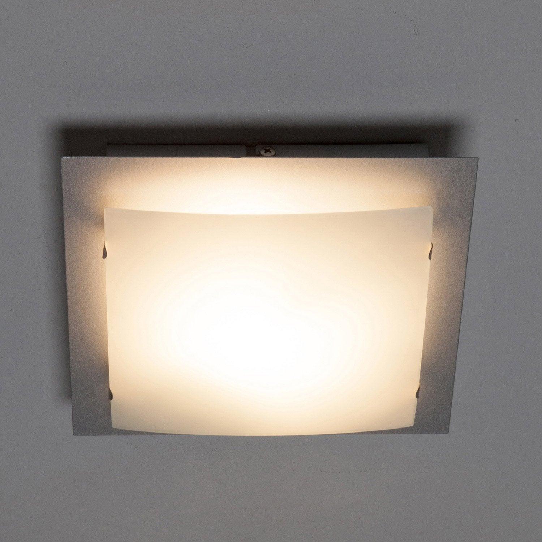 Plafonnier marco inspire blanc 40 w leroy merlin - Leroy merlin marcos 30x40 ...