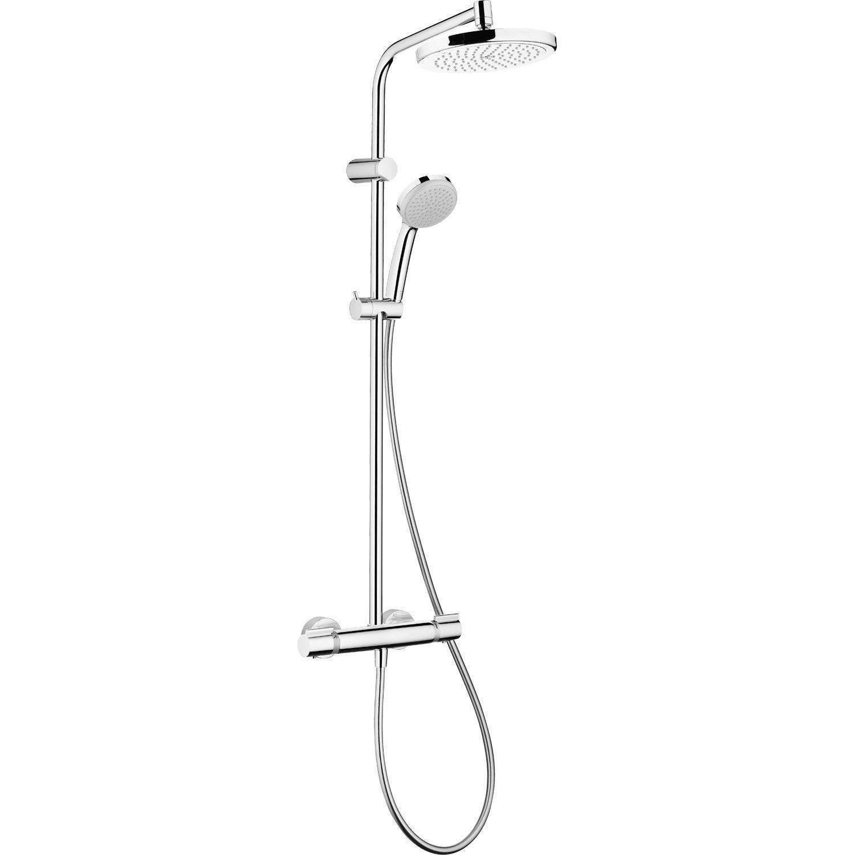 colonne de douche avec robinetterie hansgrohe verso 220. Black Bedroom Furniture Sets. Home Design Ideas