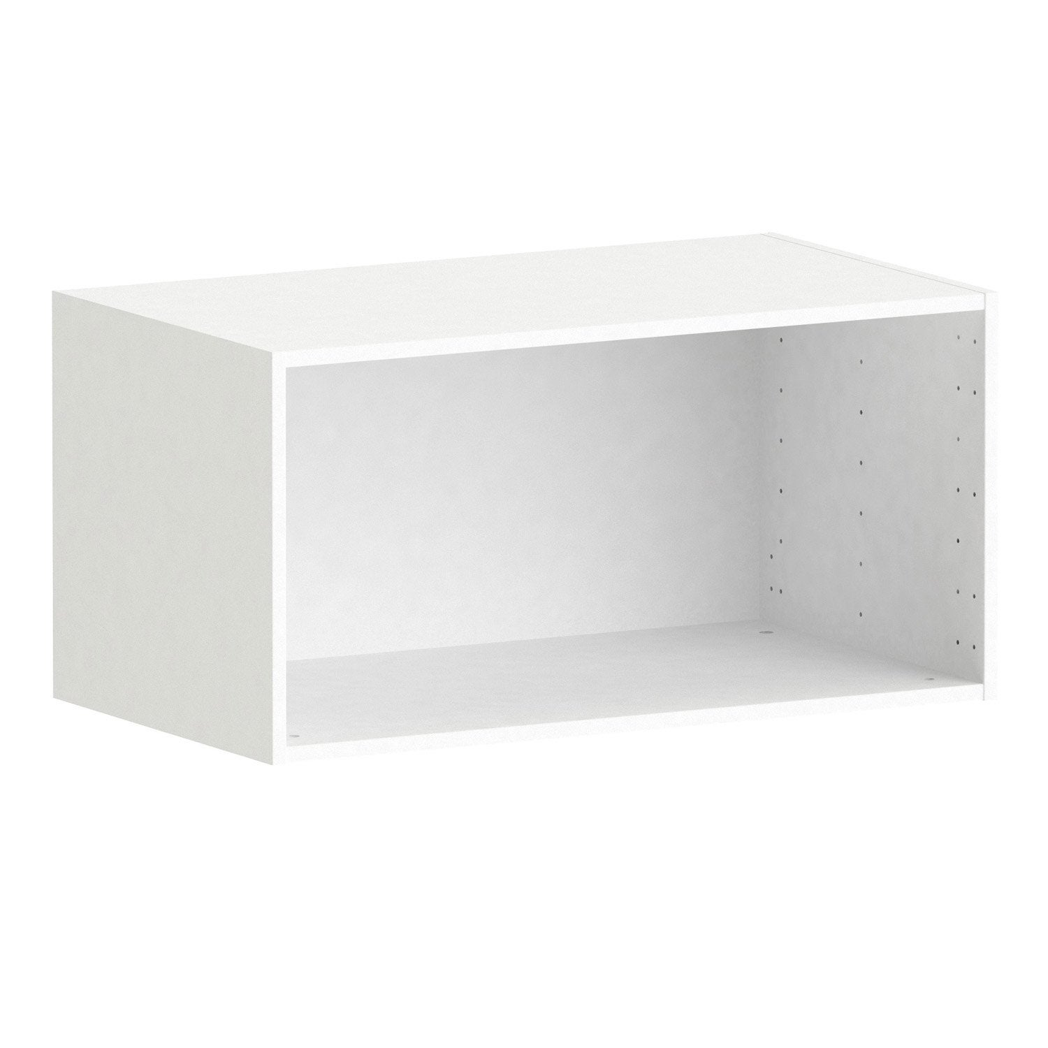 Caisson spaceo home 40 x 80 x 45 cm blanc leroy merlin for Meuble 60x40