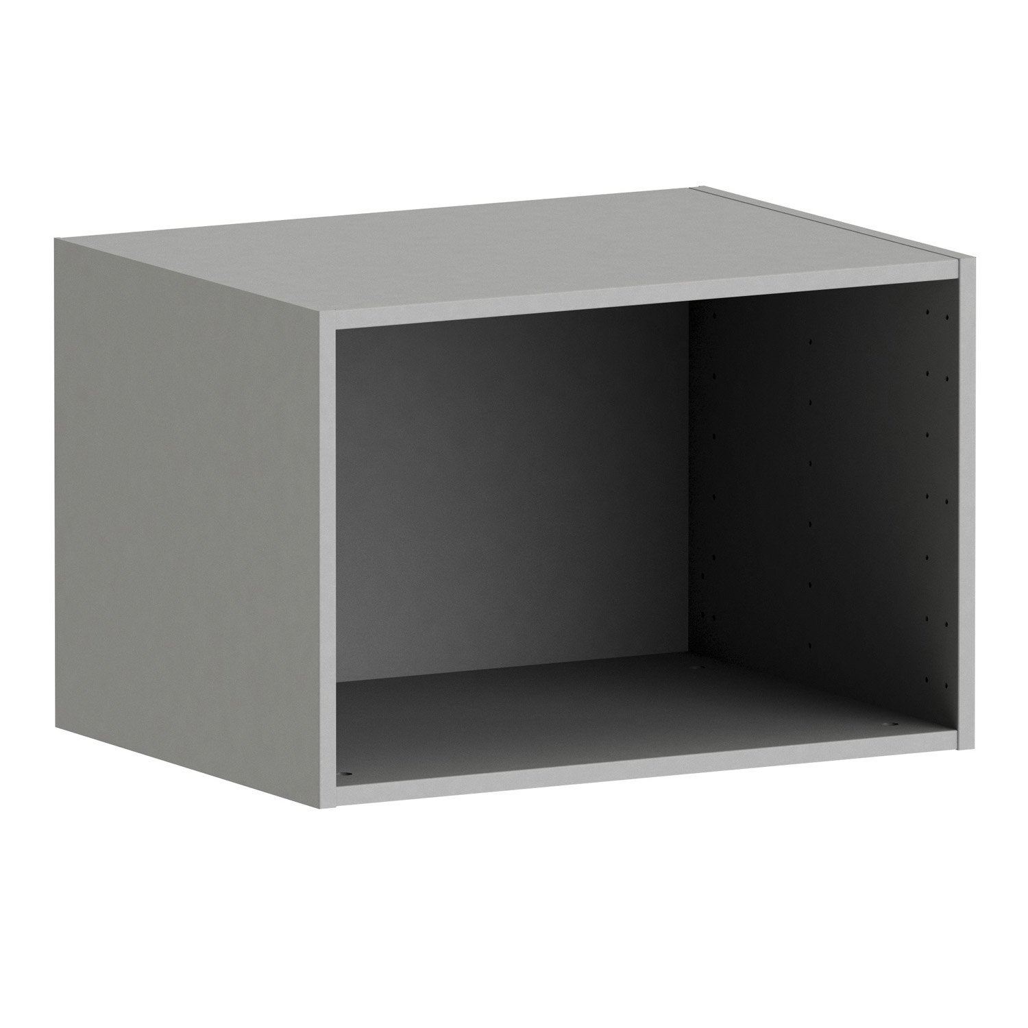 caisson spaceo home 40 x 60 x 45 cm anthracite leroy merlin. Black Bedroom Furniture Sets. Home Design Ideas