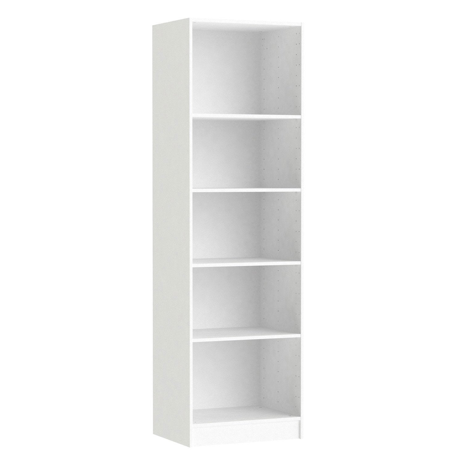 Caisson spaceo home 200 x 60 x 45 cm blanc leroy merlin for Meuble bureau leroy merlin