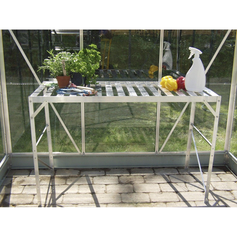 Table plateau alu anodis naturel lams leroy merlin - Table a tapisser leroy merlin ...