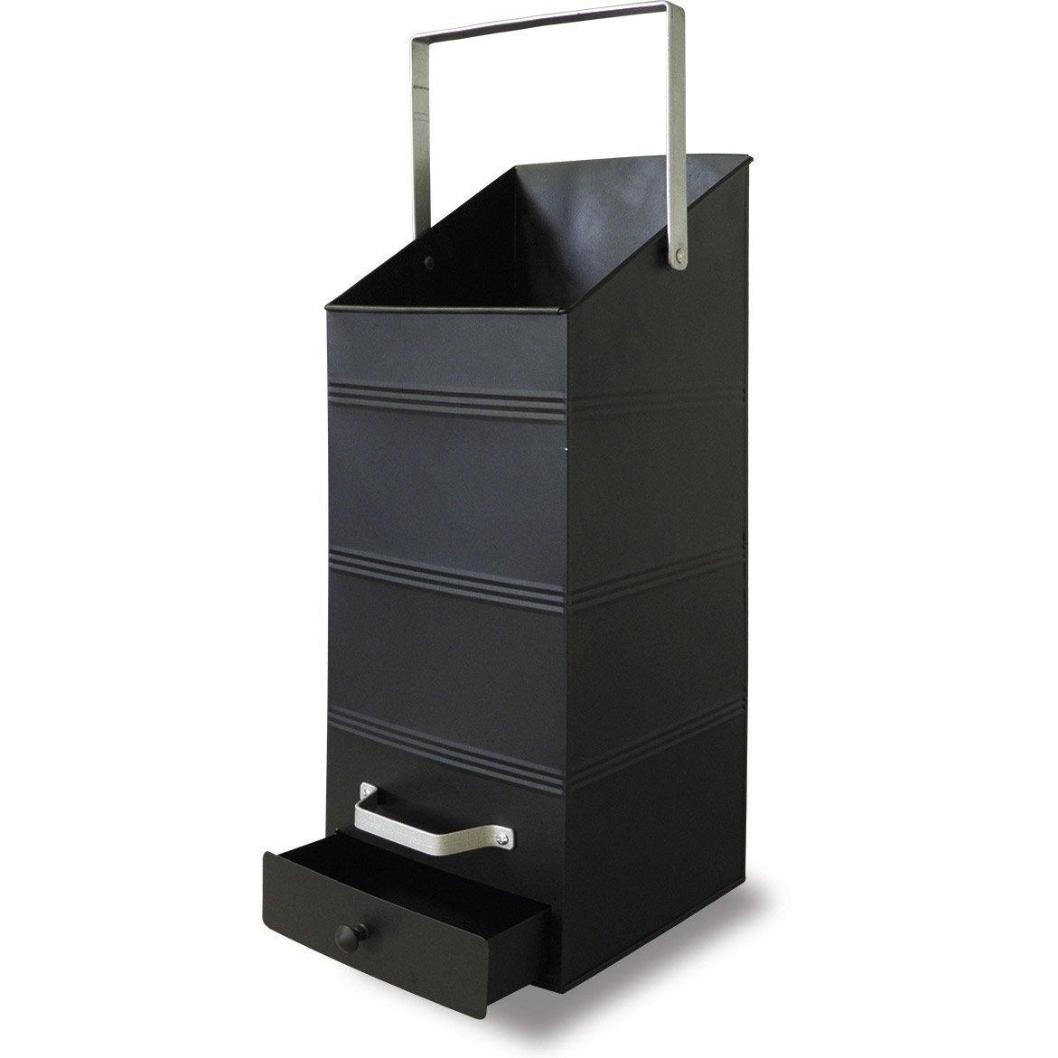 Rangement pour bois ou granul s avec r cup rateur acier delta cm lero - Casier a bois de chauffage ...