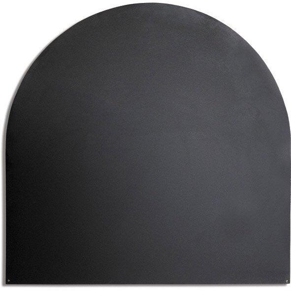 plaque de protection sol acier noir delta demi ronde. Black Bedroom Furniture Sets. Home Design Ideas