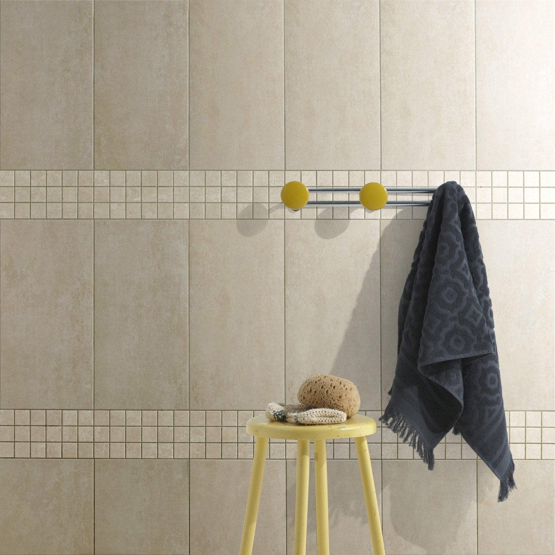 carrelage sol et mur beige tr 233 sor l 29 7 x l 59 5 cm leroy merlin
