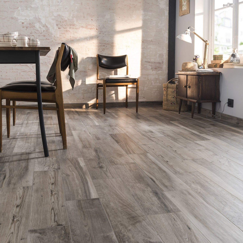 carrelage sol et mur grege effet bois elbe x cm. Black Bedroom Furniture Sets. Home Design Ideas