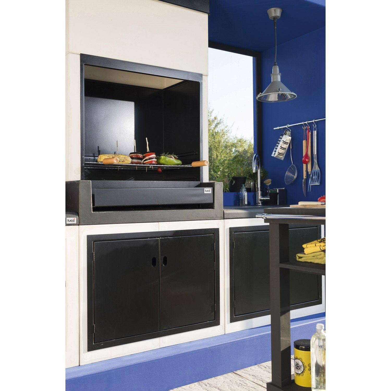 barbecue en b ton blanc cass et noir kitaway x x cm leroy merlin. Black Bedroom Furniture Sets. Home Design Ideas