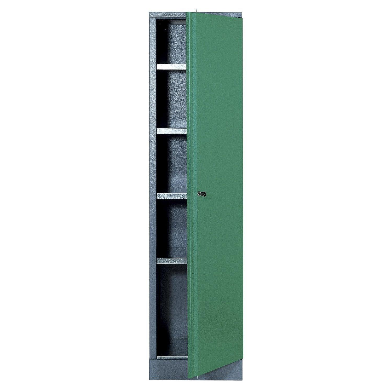 Armoire de rangement en m tal vert kupper 45 5 cm 1 porte for Armoire de rangement leroy merlin